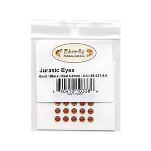 Bilde av Jurasic Eyes 4,0mm 287 Gold/Black/Red